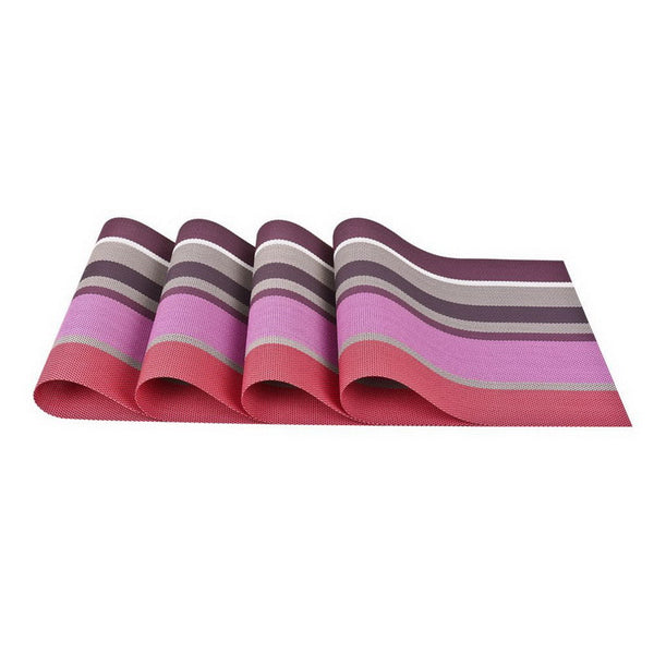 4 PCS - PVC Placemat Set Raspberry