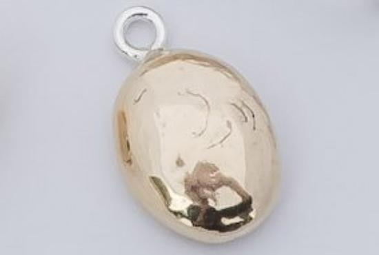 OVAL BOBBLE PENDANT 9CT YELLOW GOLD