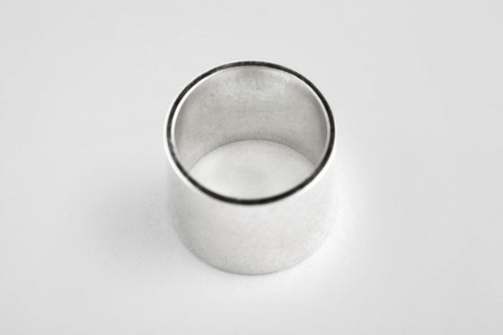 Sterling silver long flat ring