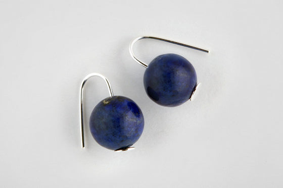 Lapis & sterling silver earrings