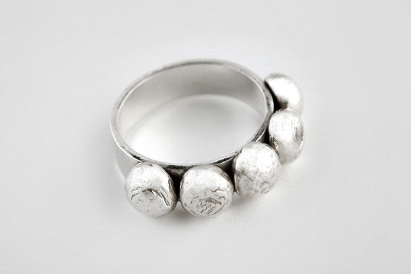 Sterling silver 5-piece ring