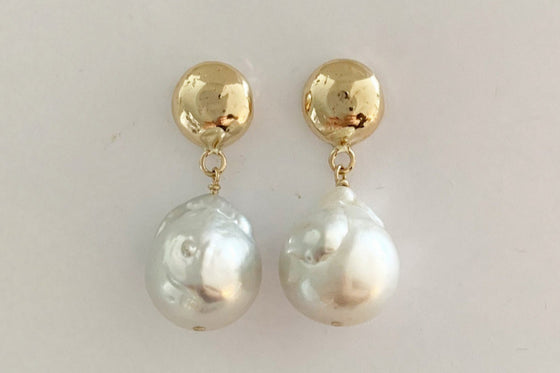 9ct YG + South Sea pearls