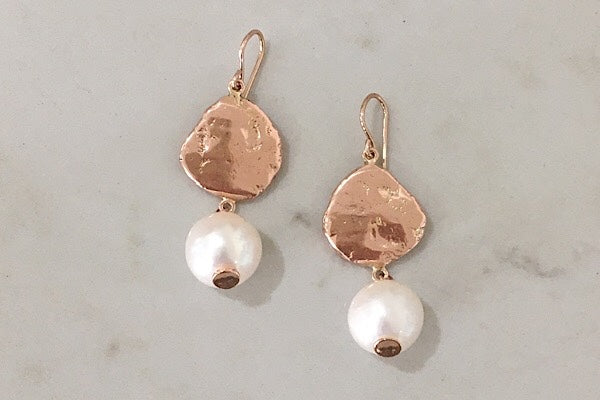 STERLING SILVER + FRESHWATER PEARL