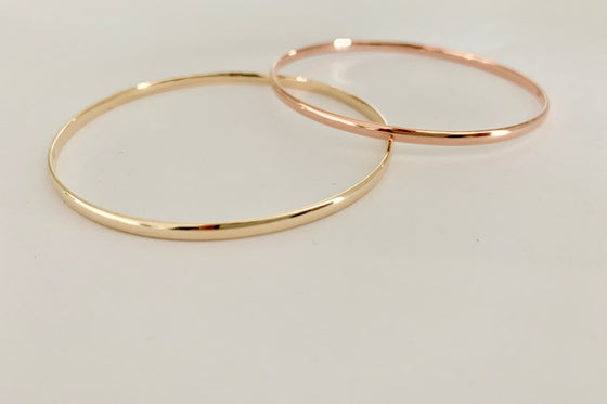 Slightly curved bangle YG | RG | SS