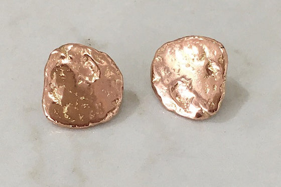 9CT SOLID ROSE GOLD TEXTURED STUD