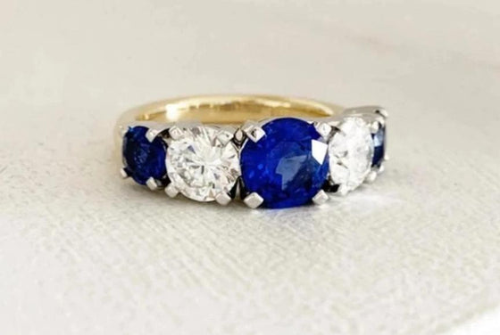 Sapphires + diamonds