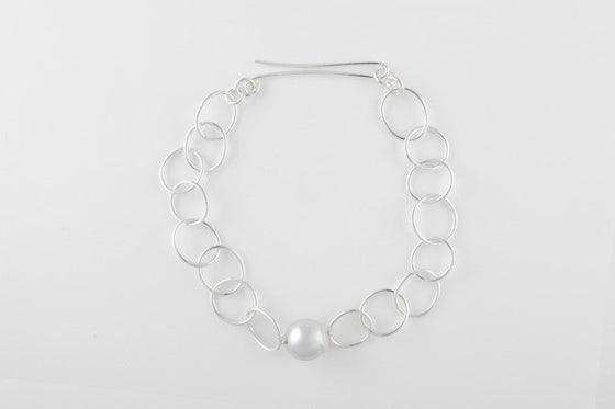 Broome South Sea pearl & sterling silver necklace