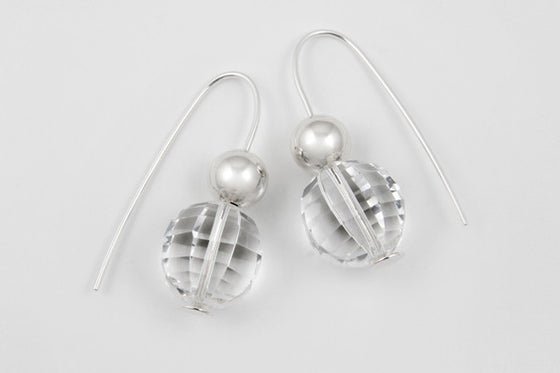 Quartz & sterling silver earrings