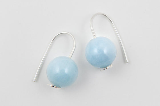 Beryl & sterling silver earrings