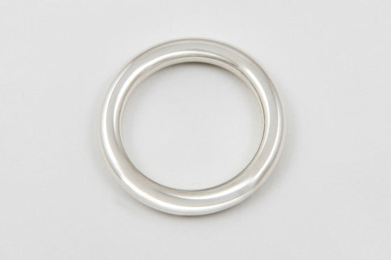 Sterling silver 14mm round bangle