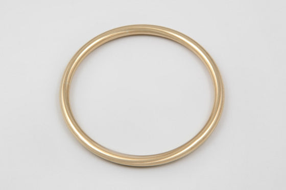 9ct yellow gold sterling silver filled 5mm round bangle