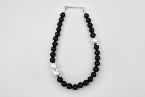 Onyx & sterling silver necklace