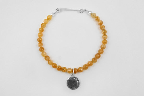 Citrine & sterling silver necklace
