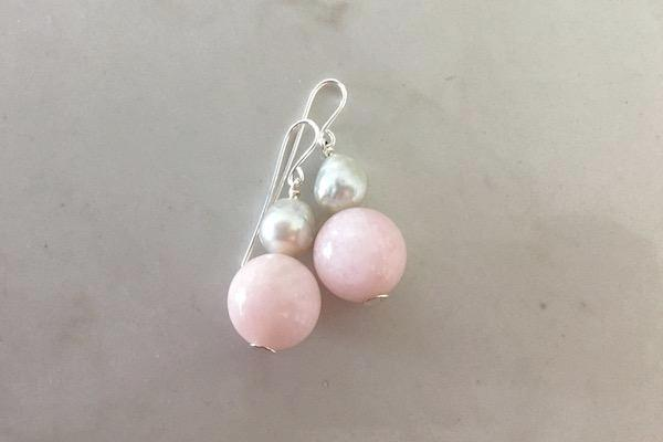 Morganite + South Sea pearl