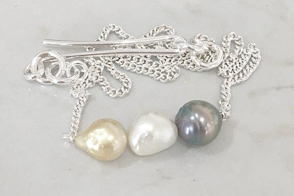 Pearls + sterling silver