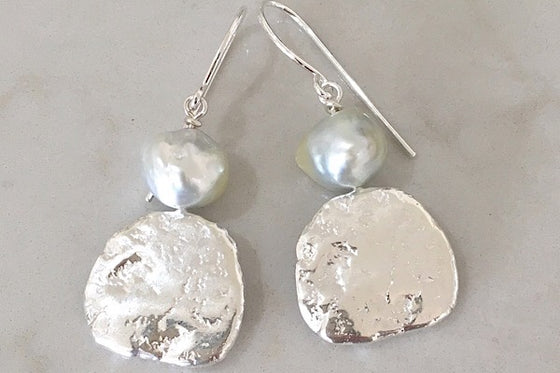 Pearl + sterling silver