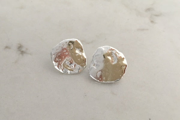 SOLID STERLING SILVER TEXTURED STUD