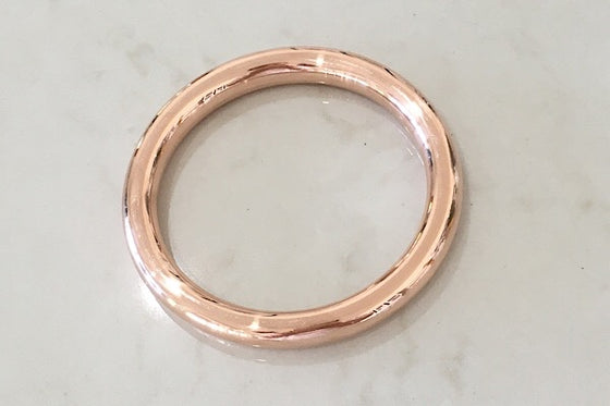 9CT ROSE GOLD BANGLE 9MM