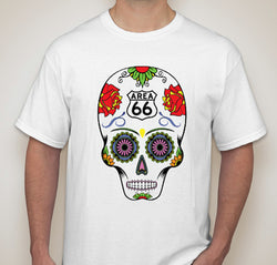 Area 66 alien sugar skull t-shirt