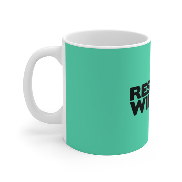 R&W Teal and Black Mug 11oz