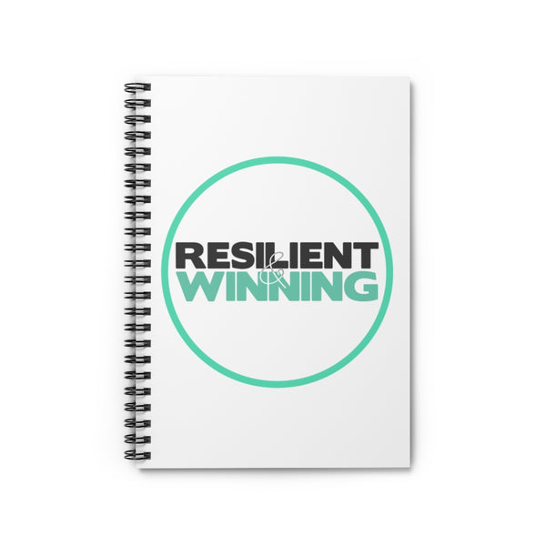 R&W Spiral Notebook(Circle Logo-White) - Ruled Line