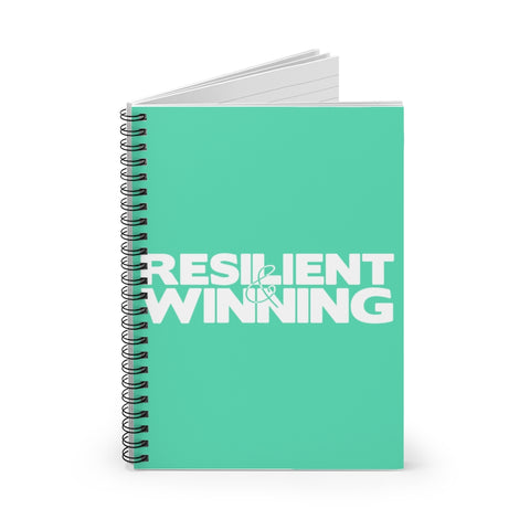 R&W Spiral Notebook(Large Logo-Teal) - Ruled Line