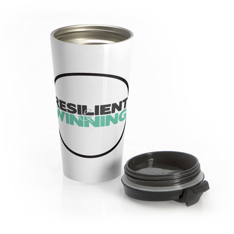 R&W Stainless Steel Travel Mug (Black Circle Logo)