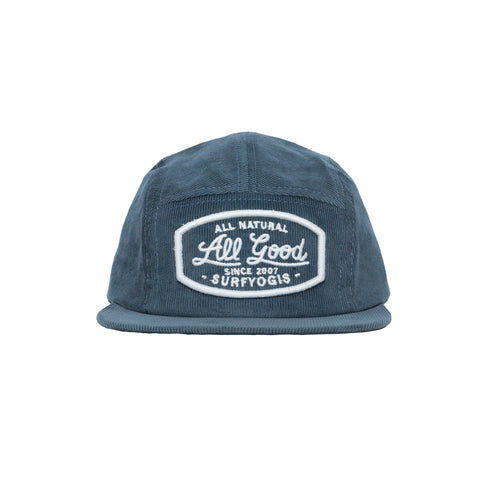 'ALL GOOD' RHYS CORDUROY HAT BLUE