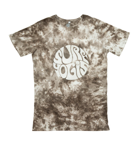 SURFYOGIS ALL DAY MEN'S BROWN BAMBOO TIE DIE SHIRT