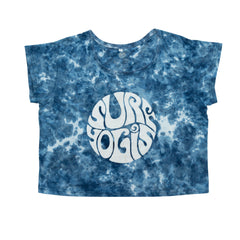 ALL DAY WOMEN'S BLUE BAMBOO TIE DIE SHIRT