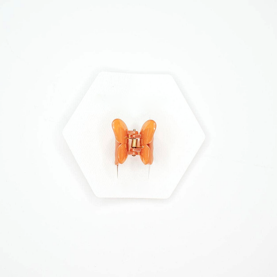 Butterfly Hair Claw - Orange