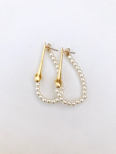 Juniper Pearl Hoop Earrings