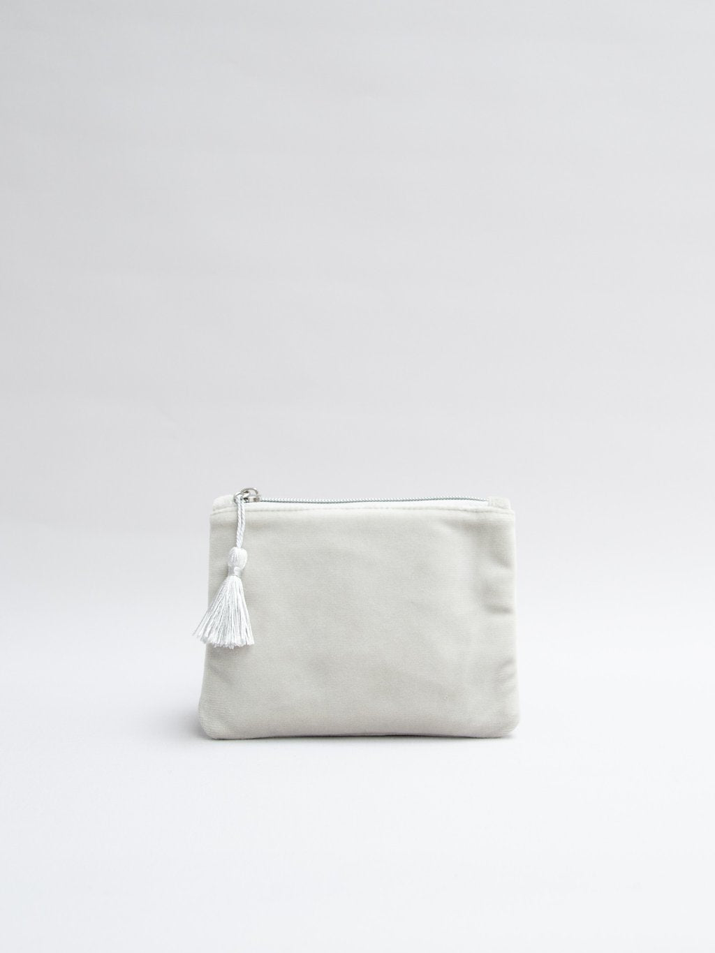 Small Velvet Purse - Light Grey