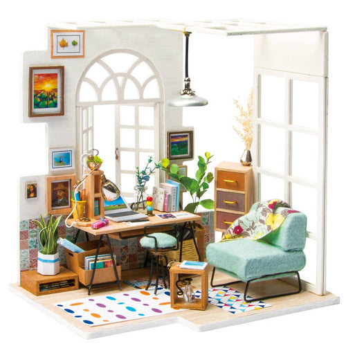 DIY 3D Miniature Kit - Study Room