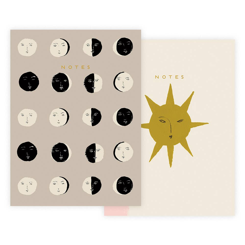 Moon Phases Notebook Set