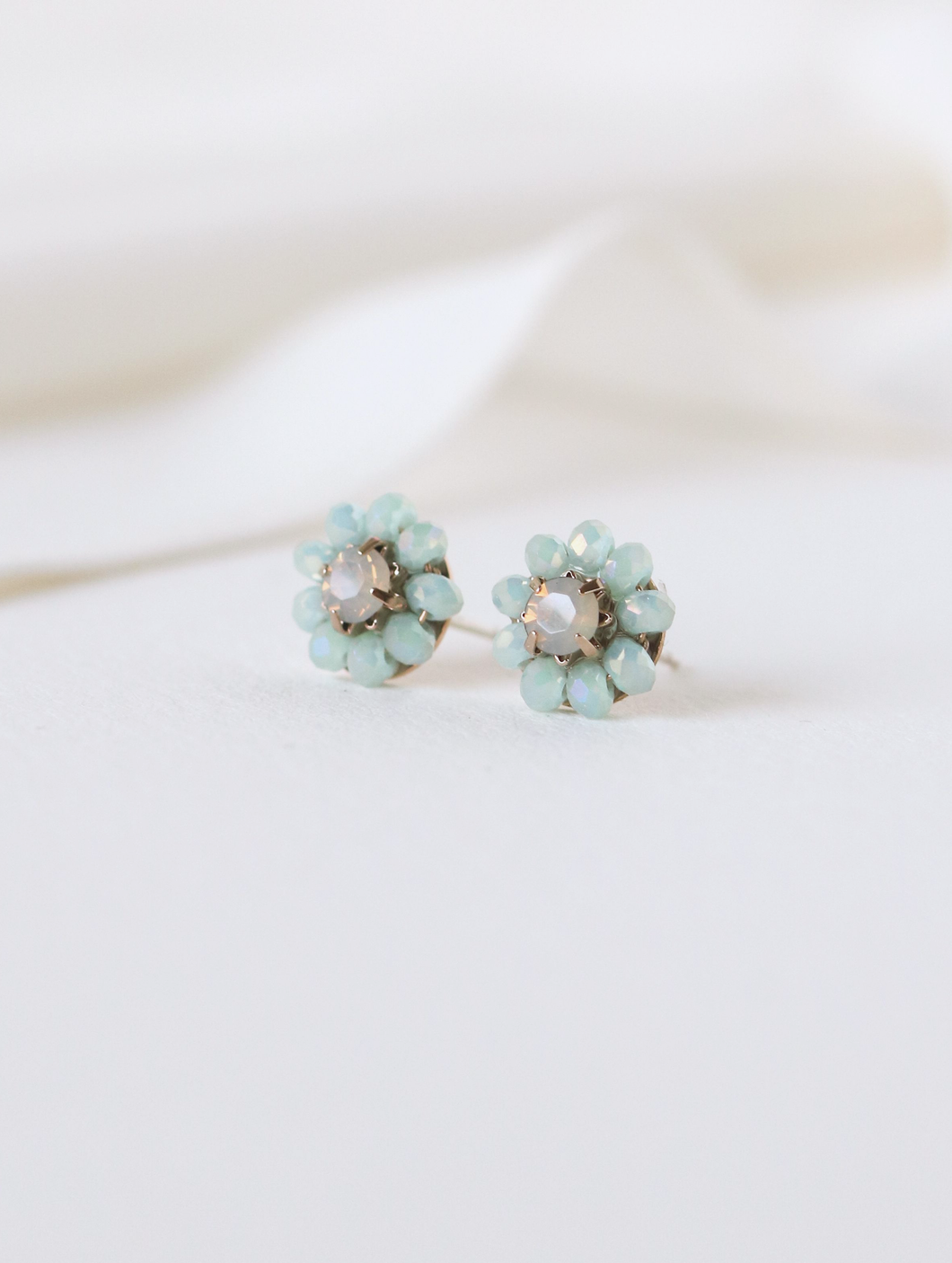 Forget Me Not Stud Earrings - Mint