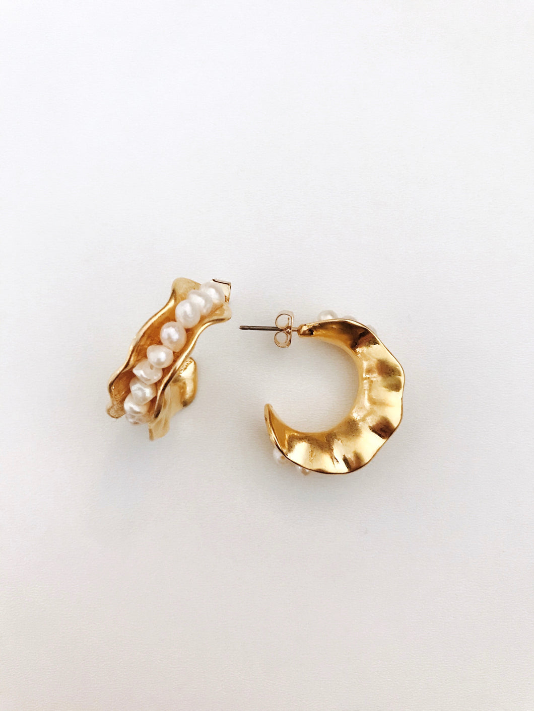 Bailey Pearl Hoop Earrings