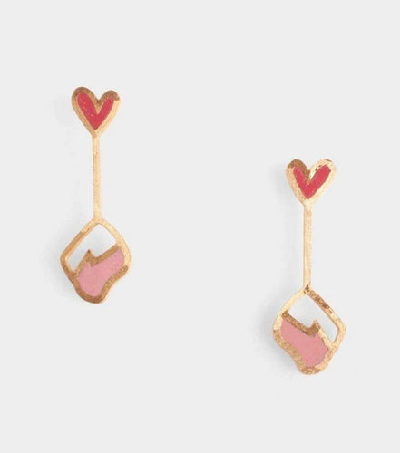 Luna Earrings - Poppy + Pink