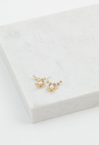 Alaia Climber Earrings - Gold