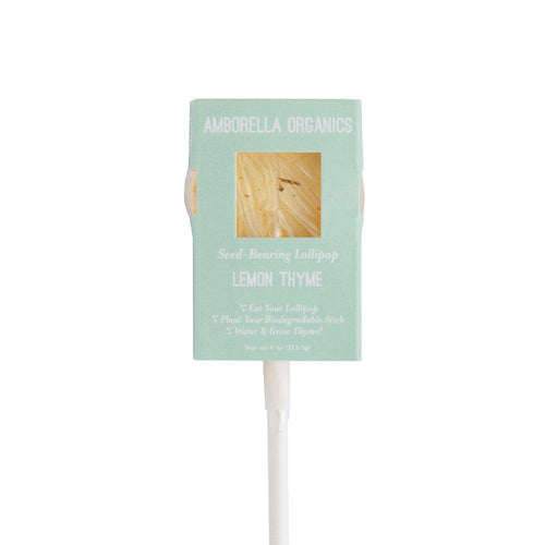 Lemon & Thyme Seed-bearing Lollipop