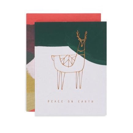 Reindeer Peace Card
