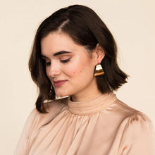 Overlay Brass Earrings