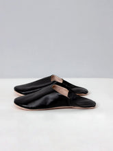 Moroccan Babouche Slippers - Black