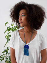 Naapu Necklace - Dusky Blue + Cobalt