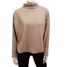 Bamboo French Terry Mock Neck Top - Fawn