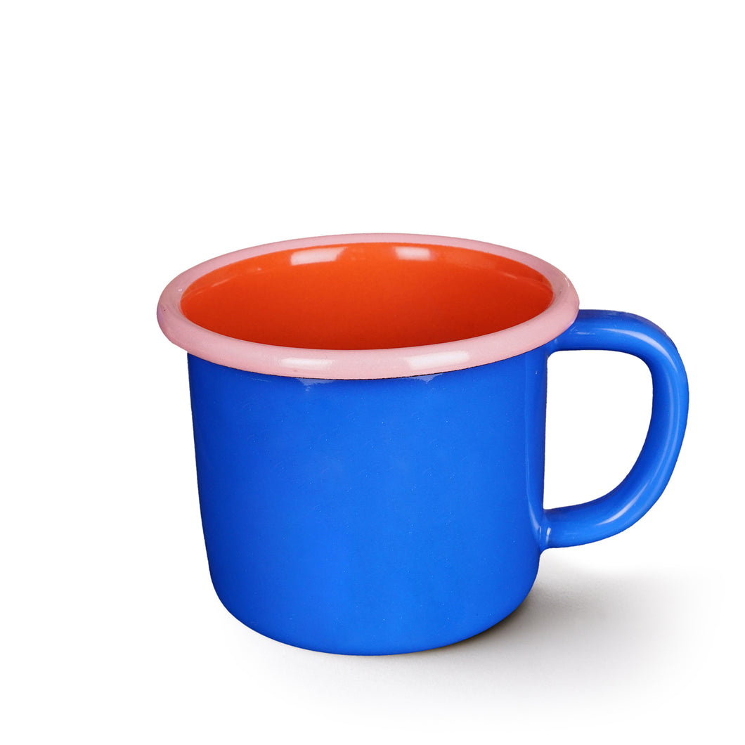 Colorama Mug - Electric Blue with Coral