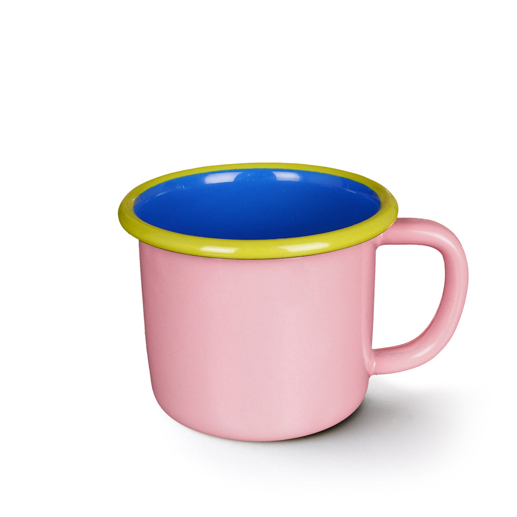 Colorama Mug - Soft Pink with Electric Blue