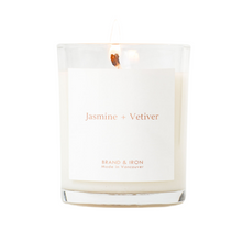 Jasmine + Vetiver - Wood Lid Soy Candle