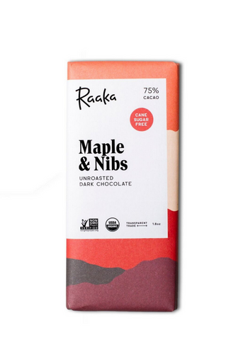 75% Maple and Nibs Chocolate Bar