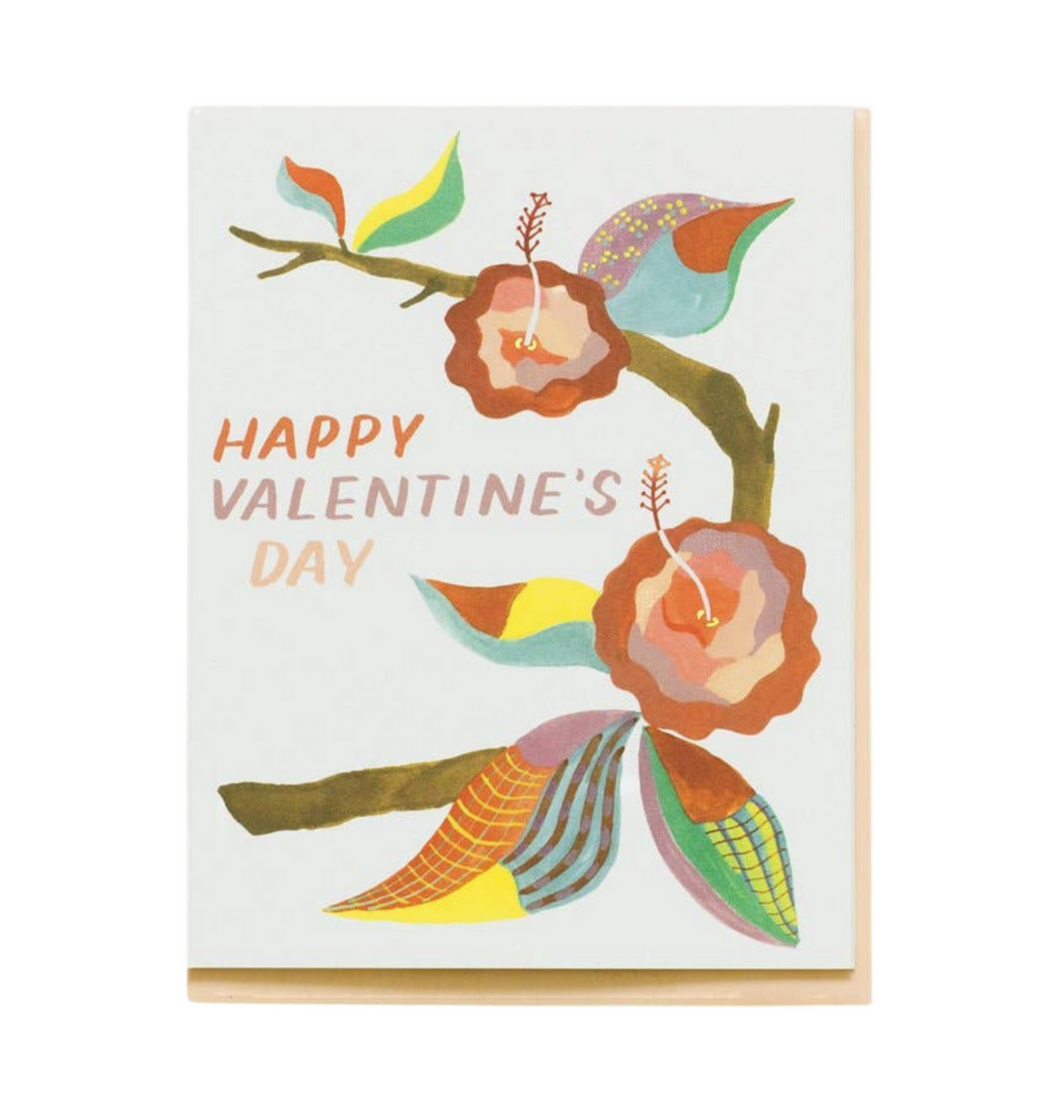 Valentine's Patterned Flowers Card